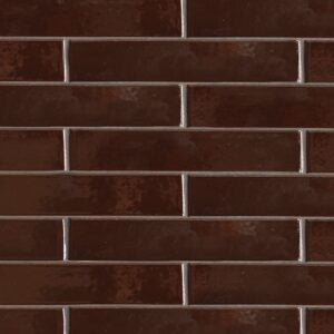 Port Brown Gloss Ceramic Tiles 2 1/4x11 5/8