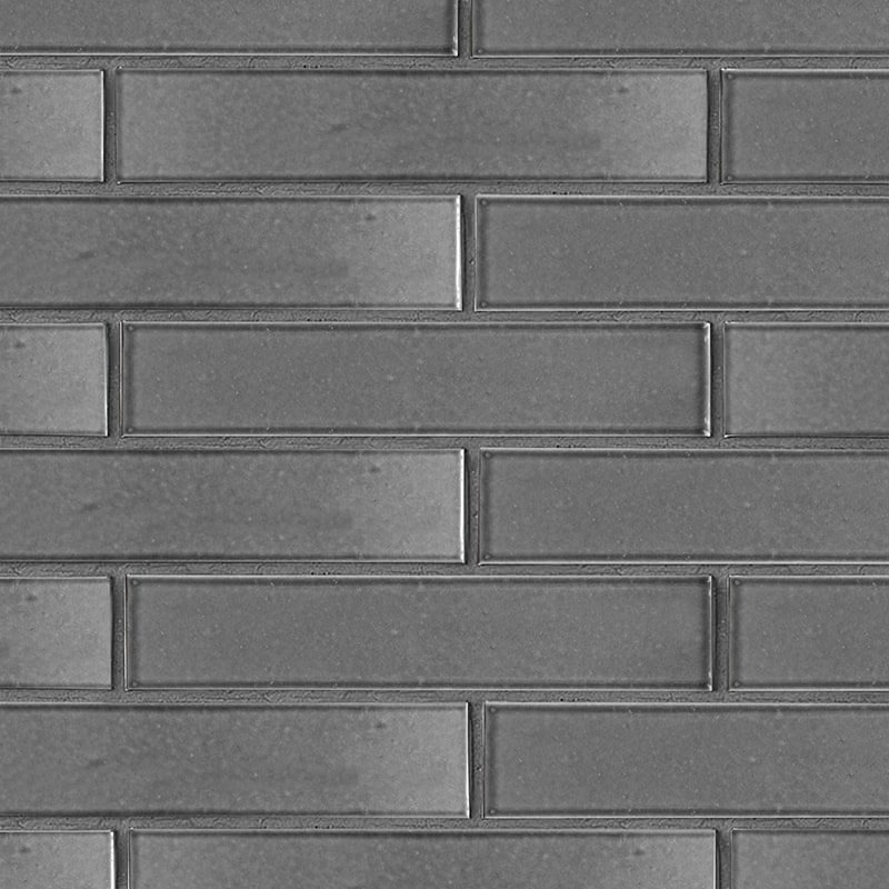 Fedora Gray Gloss Ceramic Tiles 2 1/4×11 5/8