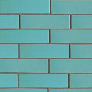 Turquoise Flats Leather Ceramic Tiles 2 5/8x9 5/8
