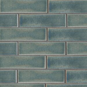 Aqua Marine Leather Ceramic Tiles 2 5/8x9 5/8