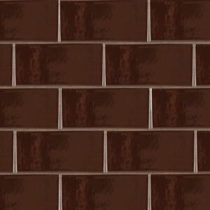 Port Brown Gloss Ceramic Tiles 3 5/8x7 5/8