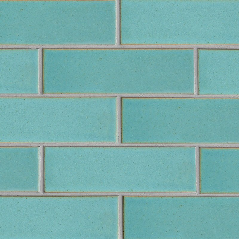 Turquoise Flats Leather Ceramic Tiles 3 5/8×11 5/8