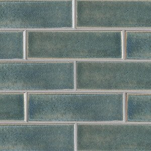 Aqua Marine Leather Ceramic Tiles 3 5/8x11 5/8