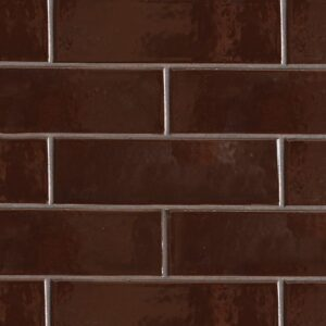 Port Brown Gloss Ceramic Tiles 3 5/8x11 5/8