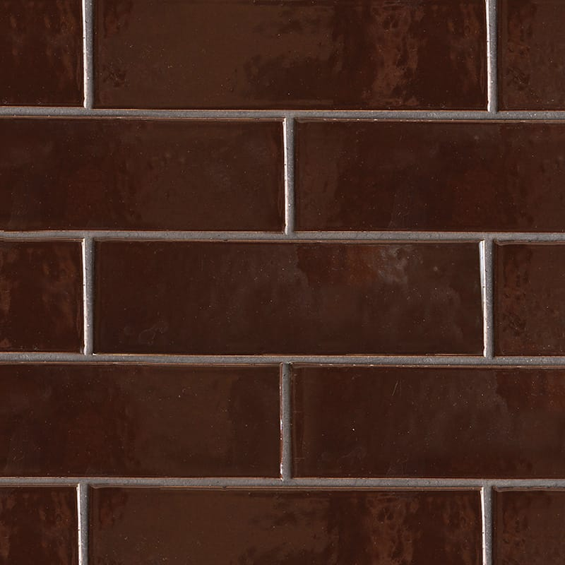 Old Port Brown Gloss Terracotta Tiles 3 5/8×11 5/8