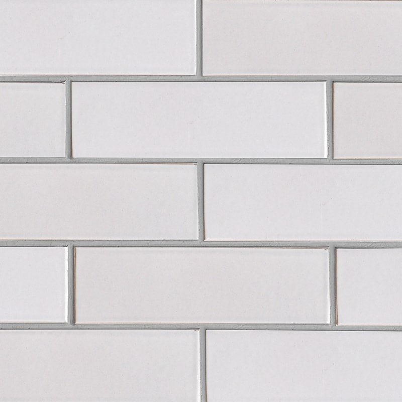 Doric Gray Gloss Ceramic Tiles 3 5/8×11 5/8