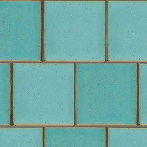 Turquoise Flats Leather Ceramic Tiles 7 5/8x7 5/8