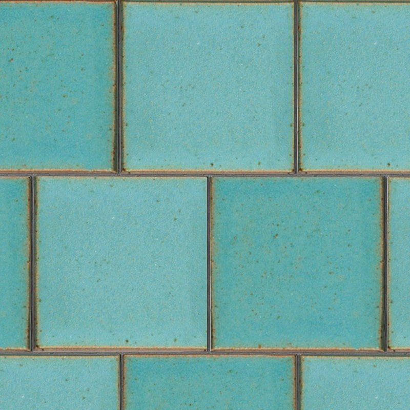 Turquoise Flats Leather Ceramic Tiles 7 5/8×7 5/8