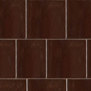 Old Port Brown Gloss Terracotta Tiles 7 5/8x7 5/8
