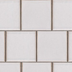 Doric Gray Gloss Ceramic Tiles 7 5/8x7 5/8