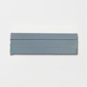 Peggy Blue Strided Ceramic Tiles 2 1/4x7 3/8