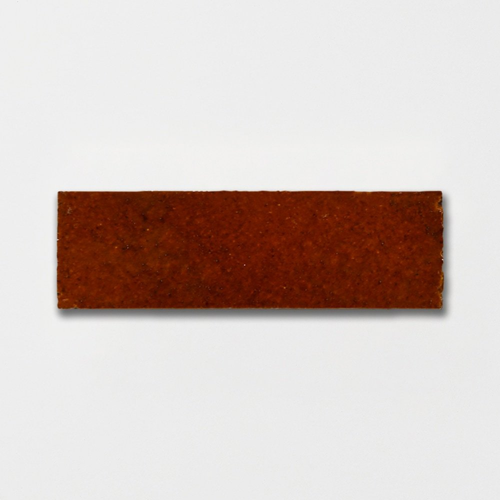Woody Brown Plain Terracotta Tiles 2 1/4×7 3/8