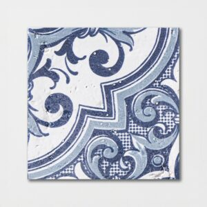 Sintra 2 Square 1/2 Glazed Terracotta Tiles 6x6
