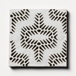 Bavi 2 Square 1/2 Glazed Ceramic Tiles 6x6