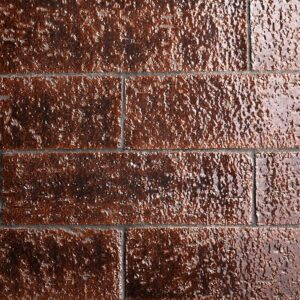 Brown Stone Glossy Terracotta Tiles 2 9/16x8 7/16