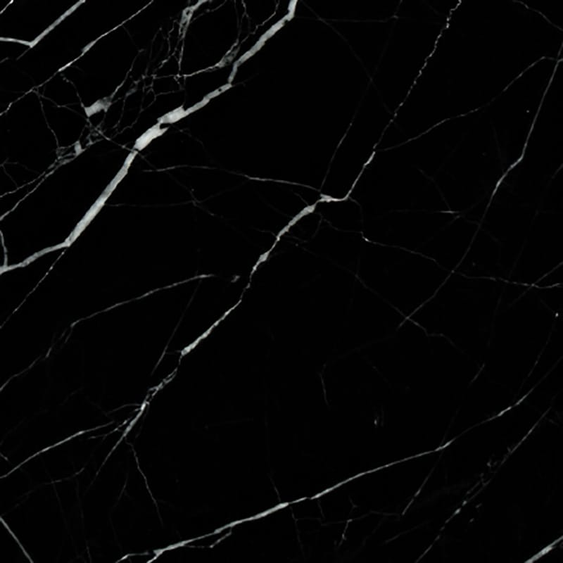 Black Polished Marble Tiles 12x12