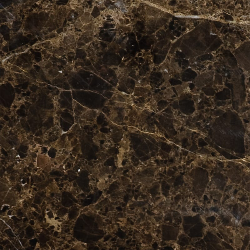 Emperador Dark Polished Marble Tiles 5 1/2×5 1/2