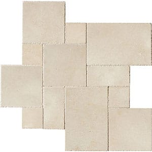 Alexander Cream Brushed Chiselled Limestone Patterns Versailles Pattern