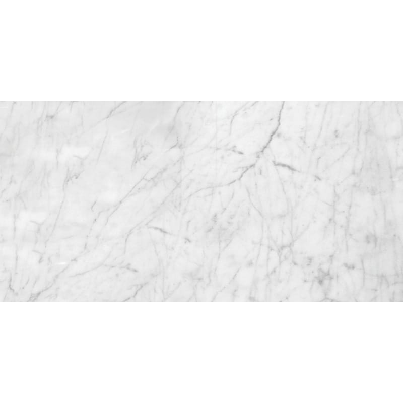 White Carrara C Polished Marble Tiles 12x24
