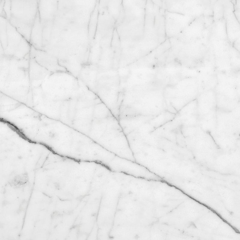 White Carrara C Polished Marble Tiles