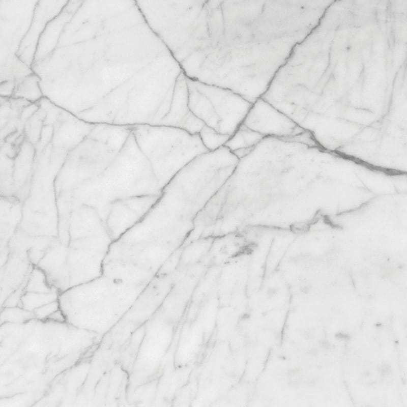 White Carrara C Polished Marble Tiles 18x18 Marble