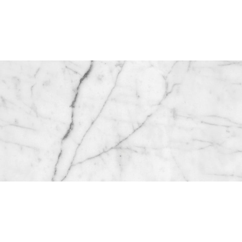 White Carrara C Honed Marble Tiles 2 3/4×5 1/2
