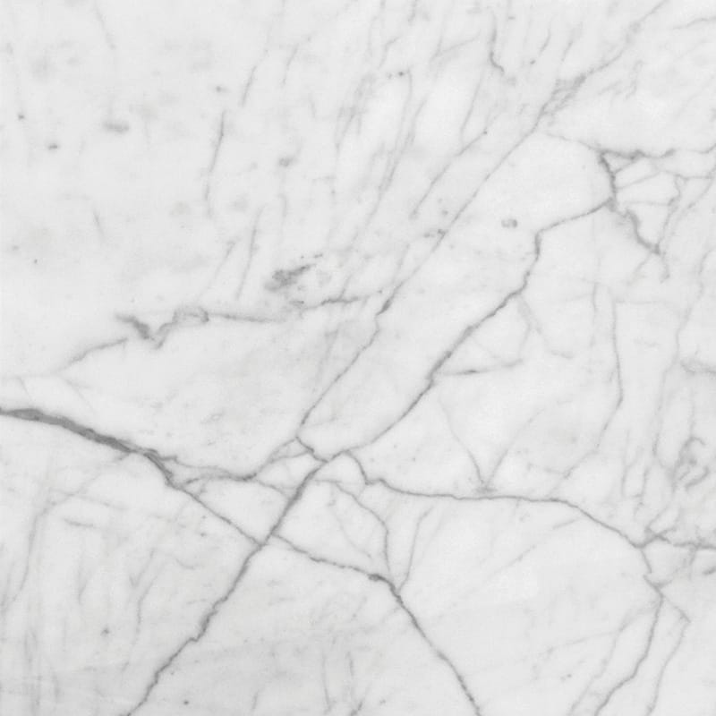 White Carrara C Honed Marble Tiles 18×18