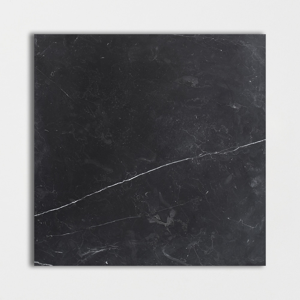 Black honed marble tiles 18x18 for Black and white marble bedding