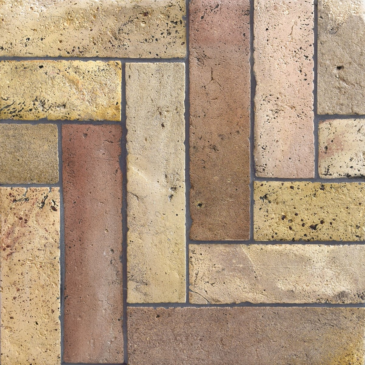 Reclaimed Natural Parquet Terracotta Tiles 3x12 Marble