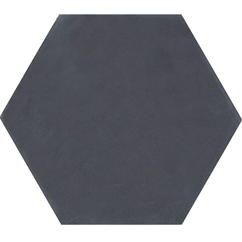 Hexagon Nero Honed Cement Tiles X - 8x8 slate tile
