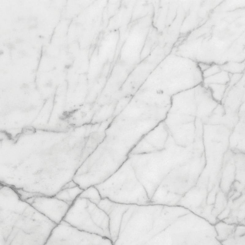 White Carrara Select Honed Marble Tiles