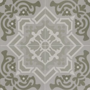 Sage Blend Honed Cement Tiles 8x8
