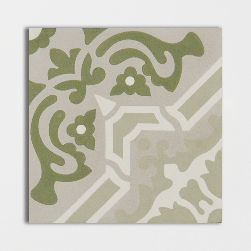 Sage Blend Honed Cement Tiles 8×8