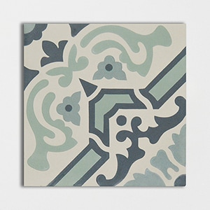 Cote D Azure Blend Honed Cement Tiles 8x8