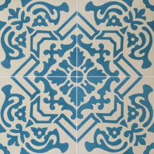 French Blue Blend Honed Cement Tiles 8x8