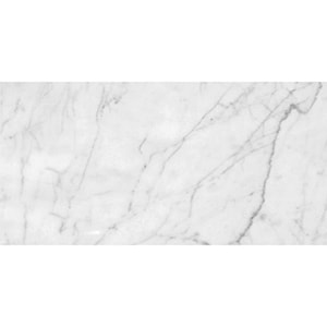 White Carrara Venatino Polished Marble Tiles 12x24