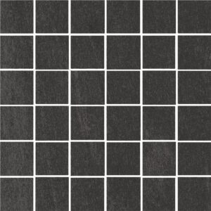 Atelier Black Honed 2x2 Porcelain Mosaics 12x12
