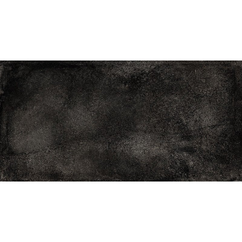 London Black R11 Textured Porcelain Tiles 12×24