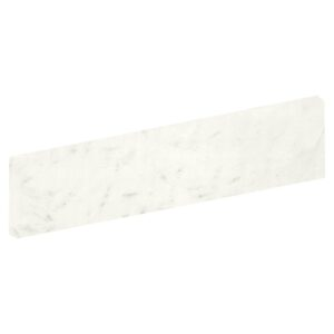 Bianco Statuario Polished Bullnose Porcelain Base 4x24