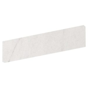 Crystal White Polished Bullnose Porcelain Base 4x24