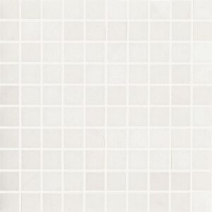 Crystal White Polished 1x1 Porcelain Mosaics 12x12
