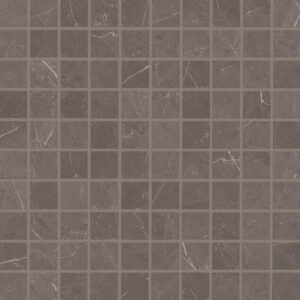 Gray Stone Polished 1x1 Porcelain Mosaics 12x12