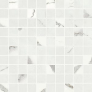 Calacatta Shine Polished 1x1 Porcelain Mosaics 12x12