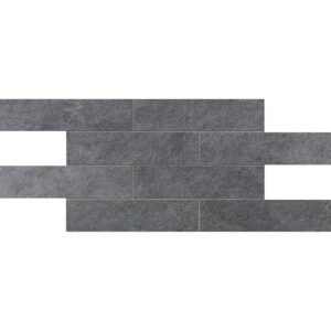 Gray Flow Natural 2 3/4x11 1/2 Brick Mesh Mount Porcelain Mosaics 12x24