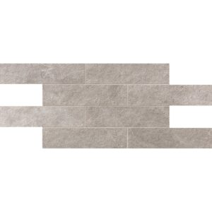 Ivory Flow Natural 2 3/4x11 1/2 Brick Mesh Mount Porcelain Mosaics 12x24