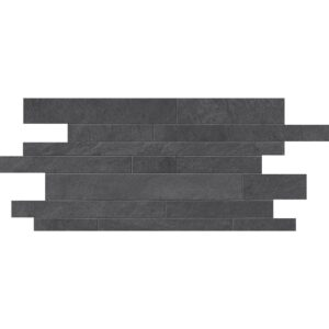 Dark Flow Natural Muretto Porcelain Mosaics 12x24