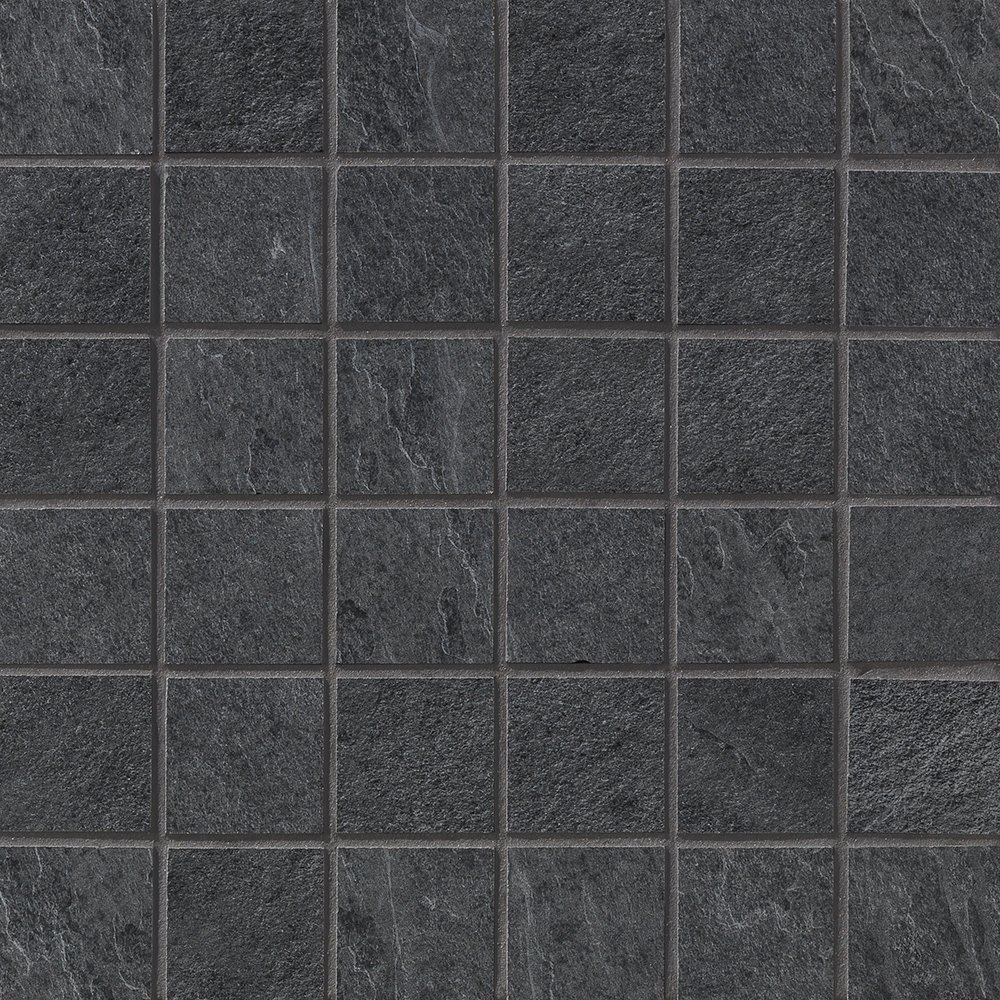 Dark Flow Natural 2×2 Porcelain Mosaics 12×12