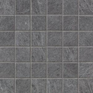 Gray Flow Natural 2x2 Porcelain Mosaics 12x12