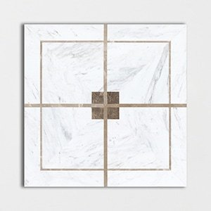 Vintage Cross Polished Marble Decorative 24x24