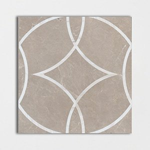 Graceful Cirque Polished Marble Decorative 24x24